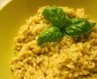 Risotto al pesto genovese - pestorisotto