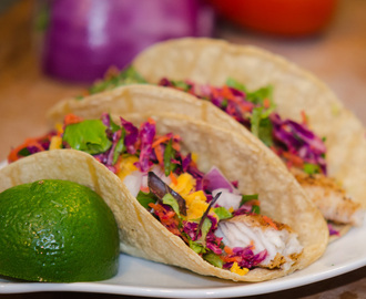 Baja Fish Tacos with Avocado and Tilapia