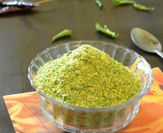 How to make Karuveppilai Podi / Spicy Curry Leaves Powder / How to dry Curry leaves in microwave oven / Step by Step Recipe: