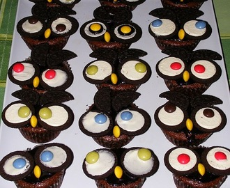 Baglyos muffin - Owl cupcakes - OreOwls
