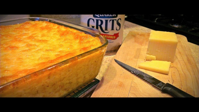 Baked Crab Cheese Grits