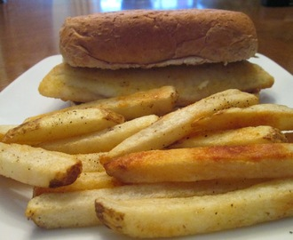 Seasoned Tilapia Sandwich w/ Baked Cracked Black Pepper and Sea Salt Country Style Fries