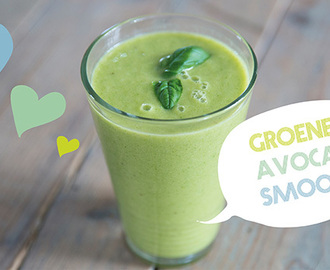 Groene smoothie: Avocado & sinaasappel