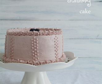 Lemon Blueberry Cake with Lemon Curd and Blueberry Buttercream