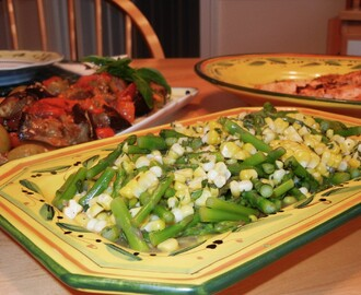 Chilled Sweet Corn with Late Asparagus ~ A Great Summer Side Dish