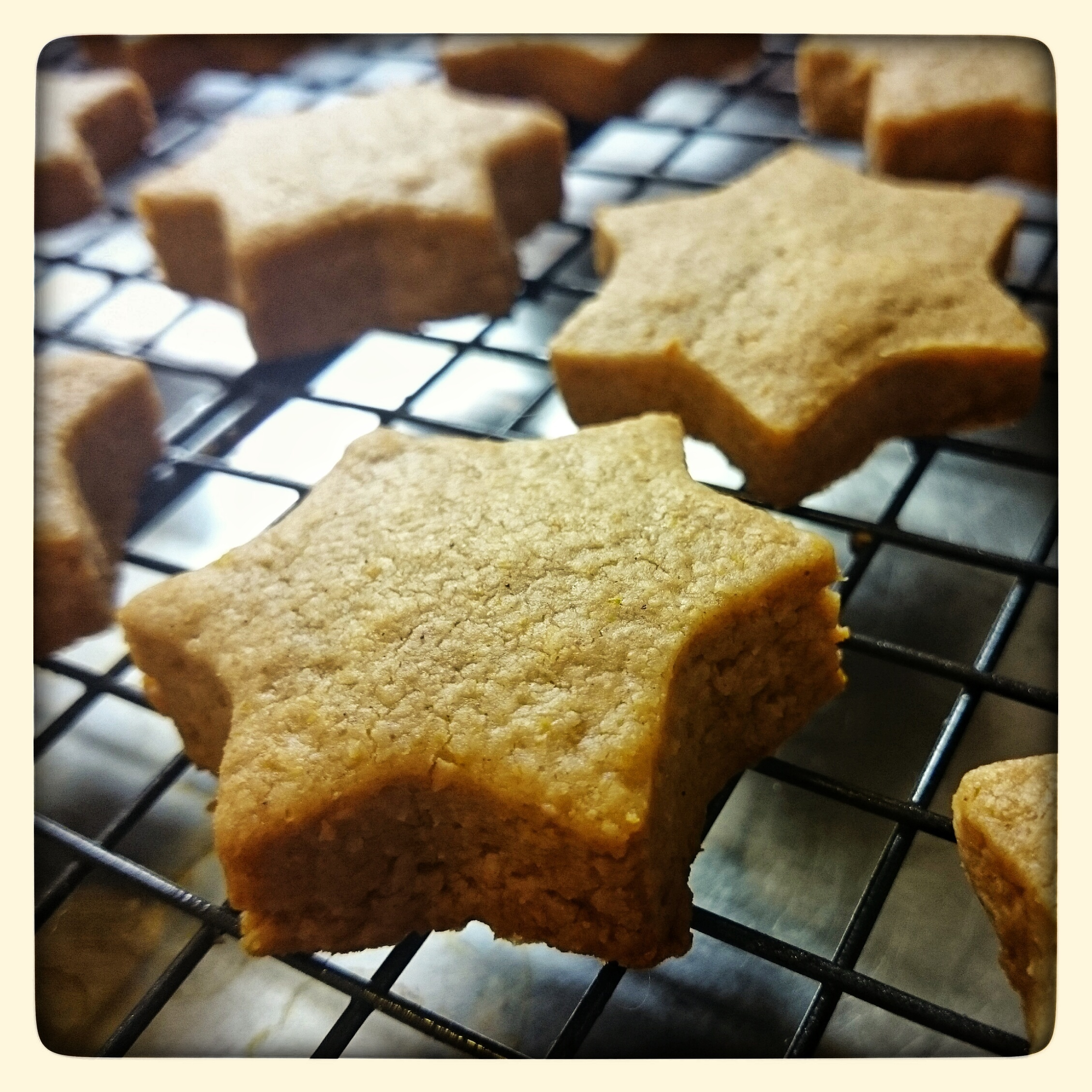 Christmas Shortbread : cinnamon, coconut and oranges….