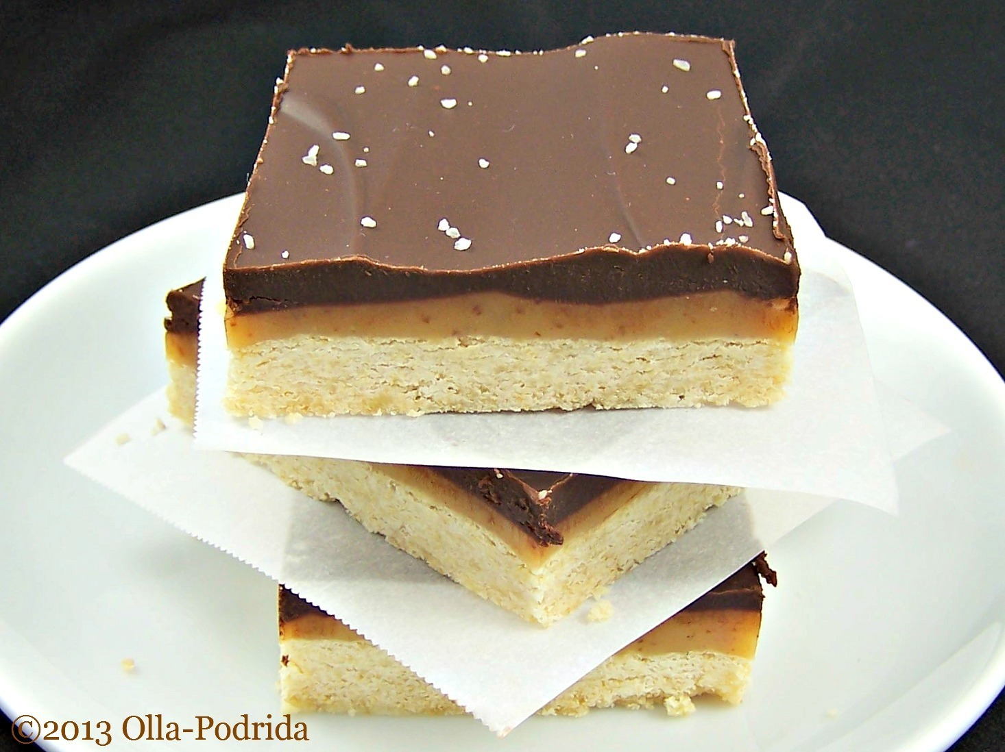 Salted Caramel Chocolate Shortbread Bars