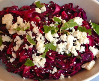 Red Cabbage with Mint and Feta