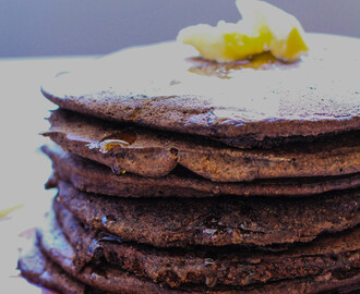 Chocolatey Buckwheat Pancakes