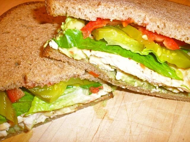 Chicken Scaloppini Sandwiches with Avocado Cream