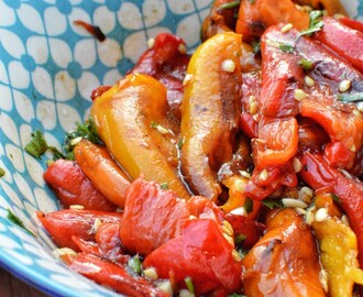 Vegan Challenge [Part 5] – Roasted sweet peppers