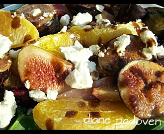 Roasted Fig, Beet & Orange Salad with Maple Syrup and Jalapeno Vinaigrette