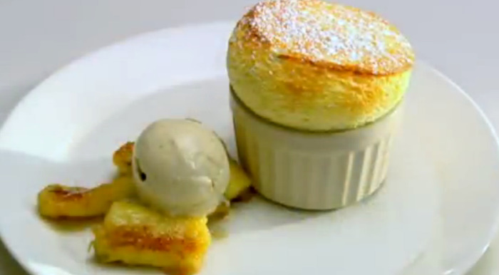 Easy Passion Fruit Soufflé With Caramelised Banana's