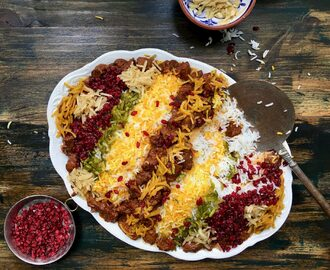 Persian Jewelled Rice with Lamb (Gheymeh Nesar)