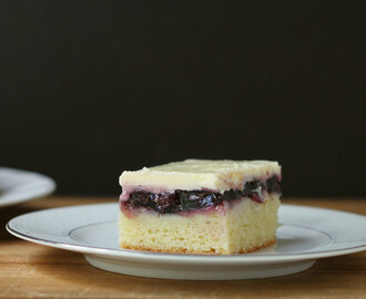 Blueberry Cake-Pie-Cheesecake Bars