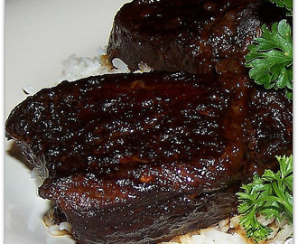 Lacquered Short Ribs with Spicy Ginger Sauce