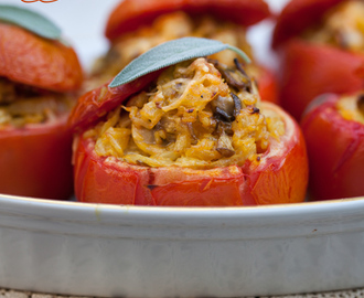 Stuffed Tomatoes with Rice & Mushrooms