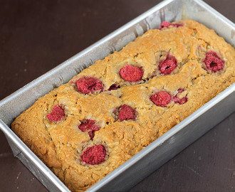 Raspberry Coconut Bread, or is it Cake? - vegan, or not