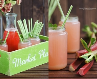 Rhubarb Lemonade and Fresh Flowers