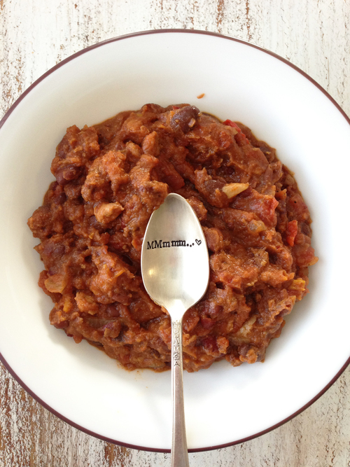 Crock Pot Pumpkin & Turkey Chili
