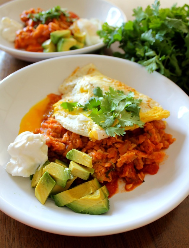 Chilaquiles with a Fried Egg