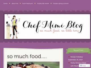 chef mimi blog