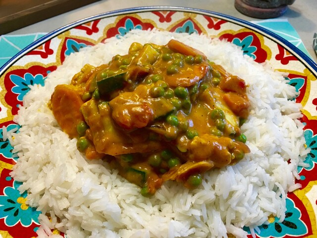 Indiase curry met courgette