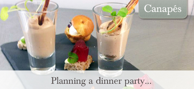 Festive Canapés… perfect if you are planning on throwing a dinner party!