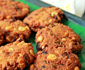 Chana Dal Vadai/ Split Chickpeas Fritters