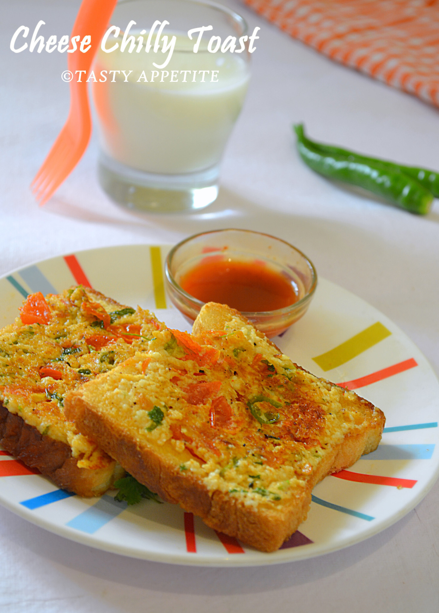 How to make Cheese Chilli Toast / Healthy Breakfast Ideas: