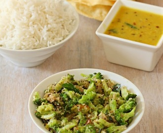 Broccoli Thoran/ Broccoli Stir fry with coconut