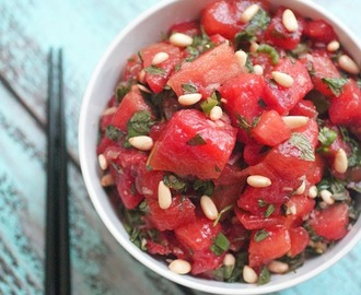 Asian Citrus Watermelon Salad #NAKANOSplash