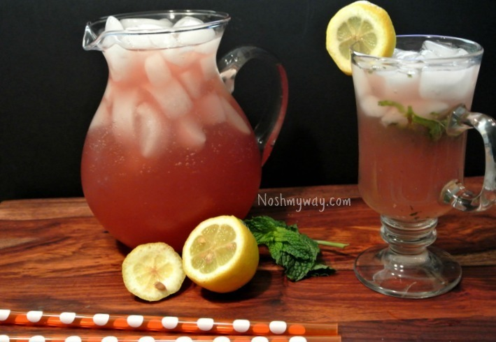 Iced Ginger Green Tea Lemonade