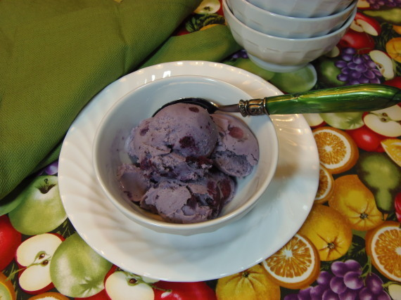 Blueberry Cheesecake Ice Cream For #SundaySupper