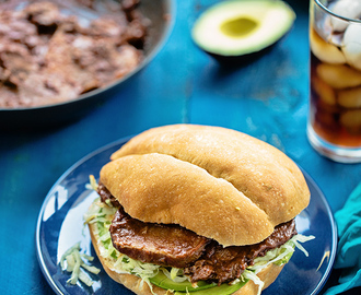 How to cook beef tongue, Part 1: Chile Colorado Lengua Tortas