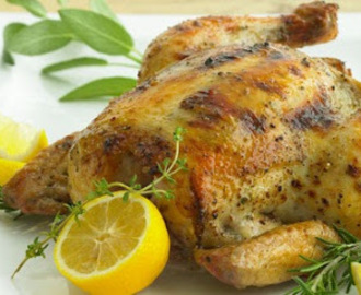 Lemon-Herb Grill-Roasted Chicken