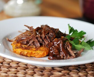 Shredded Brisket with Bourbon Espresso Glaze