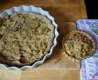 Quiche courgettes-thon-olives vertes