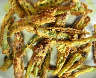 Bhindi Fry Recipe (Deep-Fried Okra)