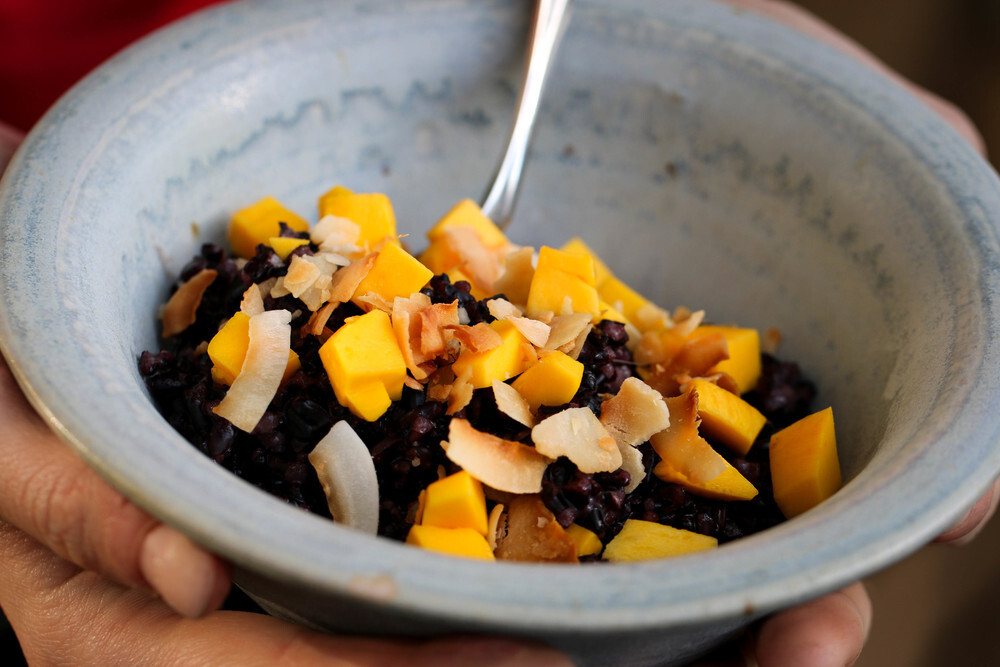 Black Rice Pudding with Coconut & Lemongrass