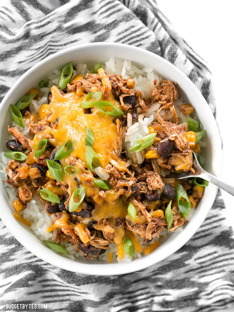 Slow Cooker Taco Chicken Bowls