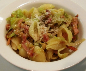 Bacon, Leek & Pine Nut Pasta
