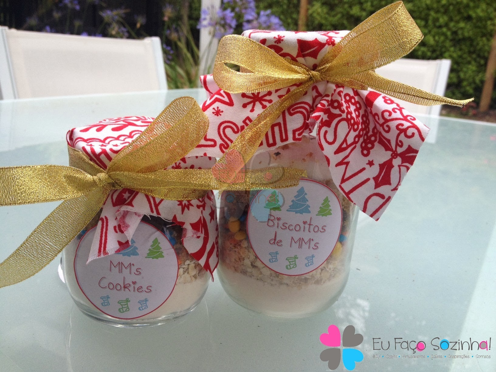 Bolacha de Natal no vidro - Christmas Cookies in a Jar