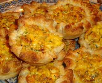 Mini quiche met kip en feta