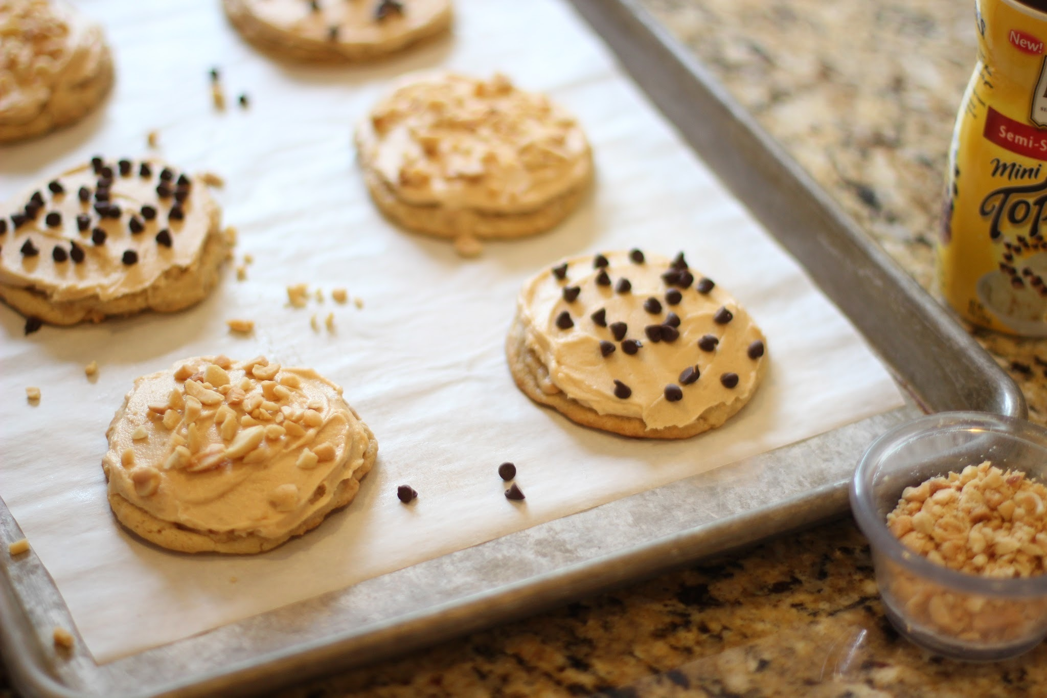 frosted peanut butter cookies and a giveaway party!