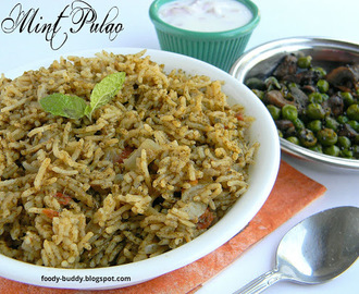 MINT PULAO | PUDINA PULAV WITH TOMATO | LUNCHBOX RICE