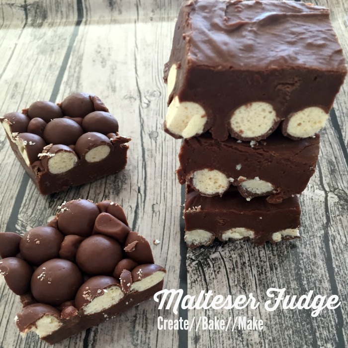 Chocolate and Malteser Fudge