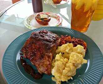 Grilled Baby Back Ribs and Heidi's BBQ Sauce