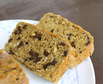 Chocolate Chip Oatmeal Quick Bread - dairy free, or not