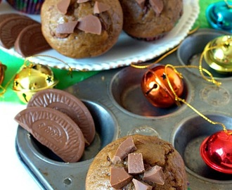 Orange Chocolate Chip Gingerbread Muffins